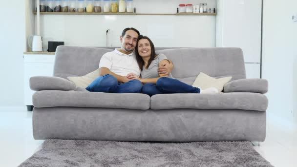 Husband and wife have fun