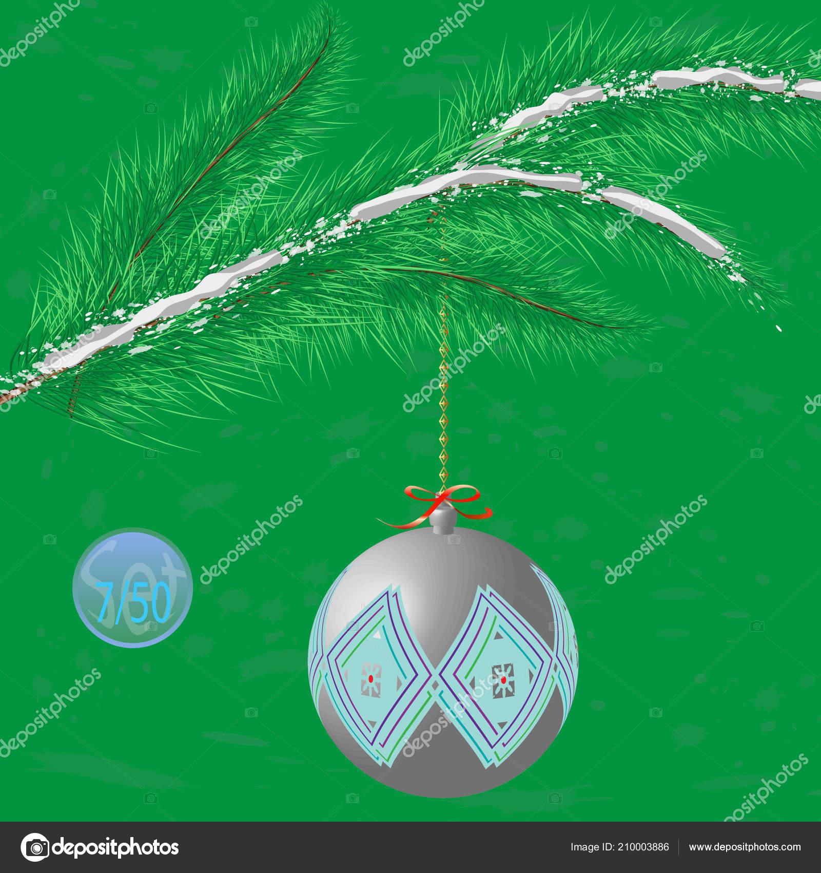 Christmas Tree Bauble Decoration Ornament Vector Illustration Stock