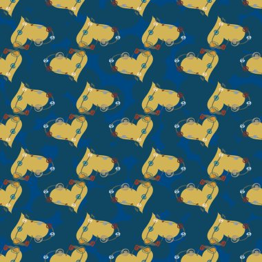 Abstract hearts seamless pattern for background.