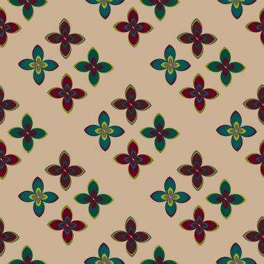 """Картина, постер, плакат, фотообои """"геометрический многоцветный бесшовный узор с цветами, векторная иллюстрация сирень природа лилии"""", артикул 225117270"""