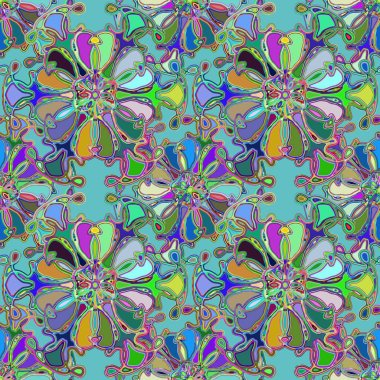 Abstract kaleidoscope colorful seamless pattern for background.