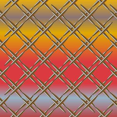 Vector illustration of Metal grid seamless pattern.