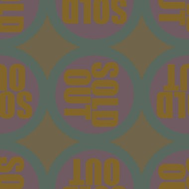 sold out seamless pattern, vector illustration