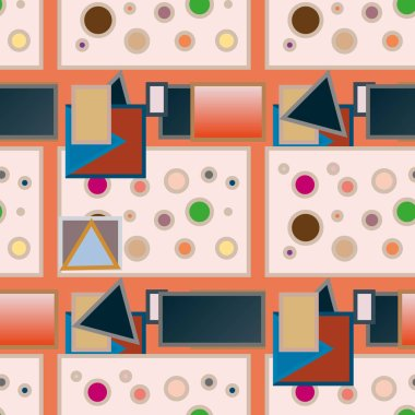 abstract geometric colorful pattern vector illustration