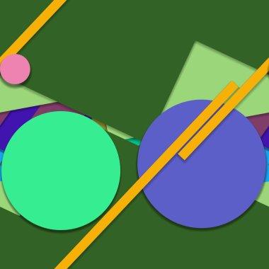 Flat material design - Creative trend seamless pattern stock vector