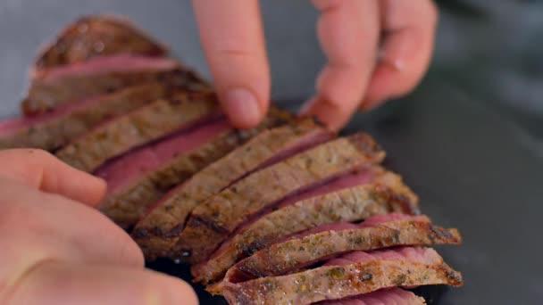 plátky hovězího steak střední kulinářské