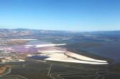 Fotografie San Francisco Bay Area: Luftbild von Salinen und Feuchtgebiete-Sümpfe in der south Bay area