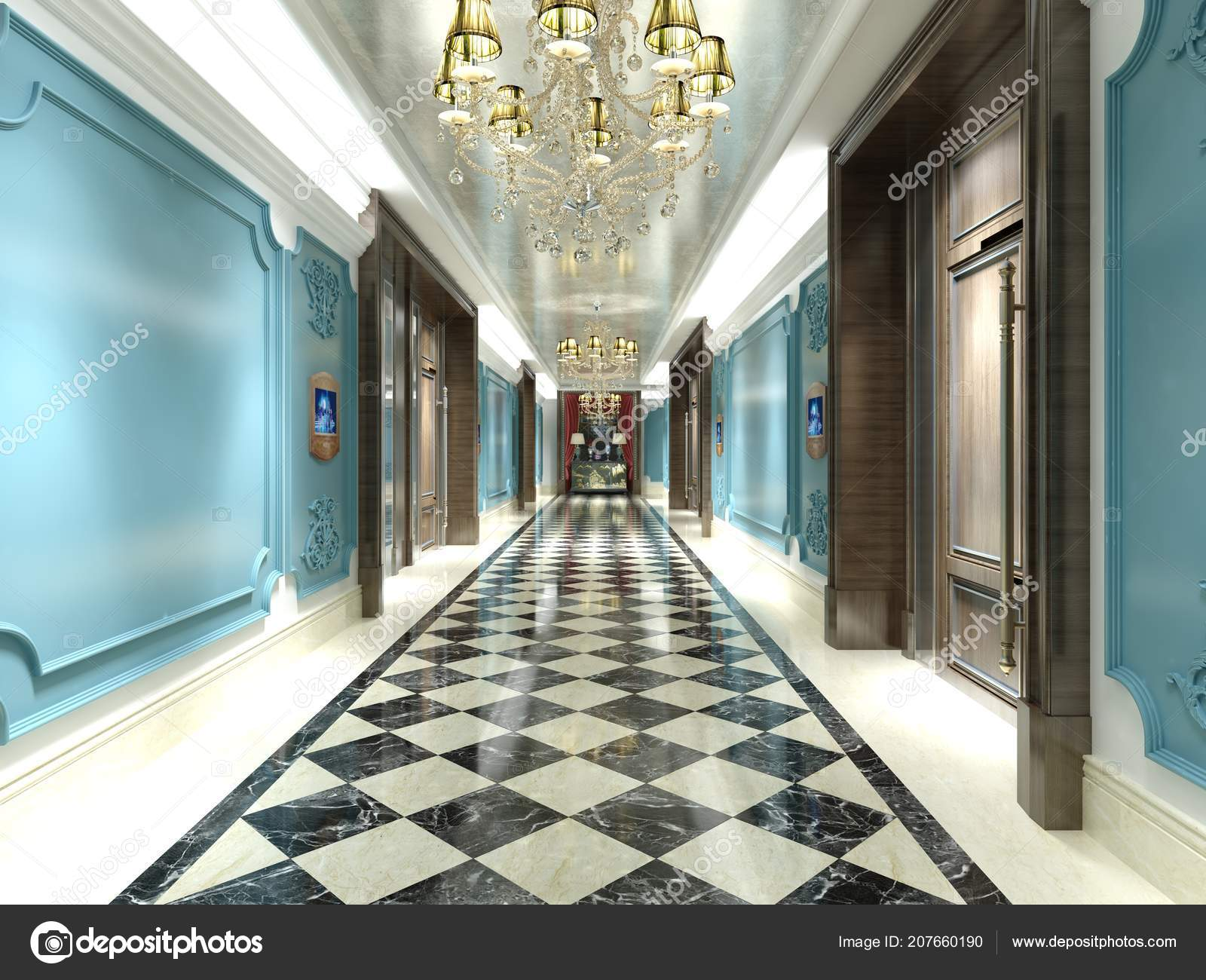 Render Hotel Lobby Entrance — Stock Photo © mtellioglu