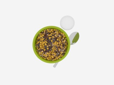 3d render of healthy food concept