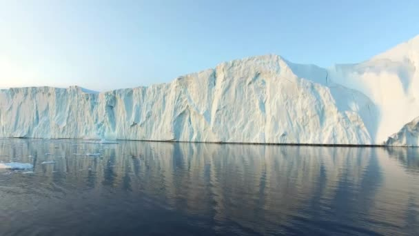 Icebergs on the arctic ocean in north pole in greenland