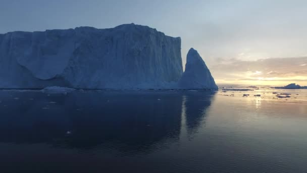 Arctic Icebergs on the Arctic Ocean in Greenland