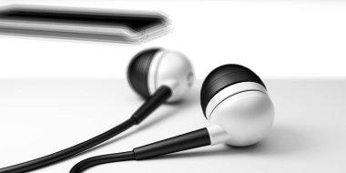 3d render of earphone
