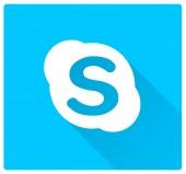 Segno di marchio Skype blu