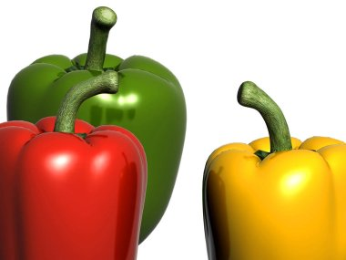 3d render of pepper