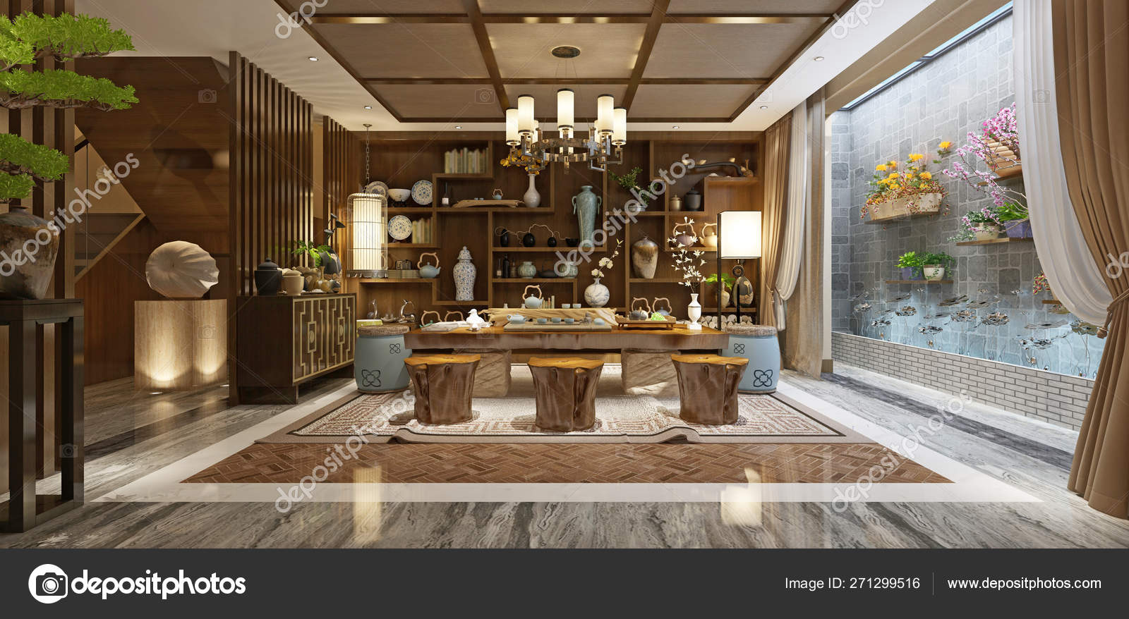 Render Japan Style Living Room — Stock Photo © mtellioglu ...