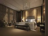 3D render neo klasszikus hálószoba