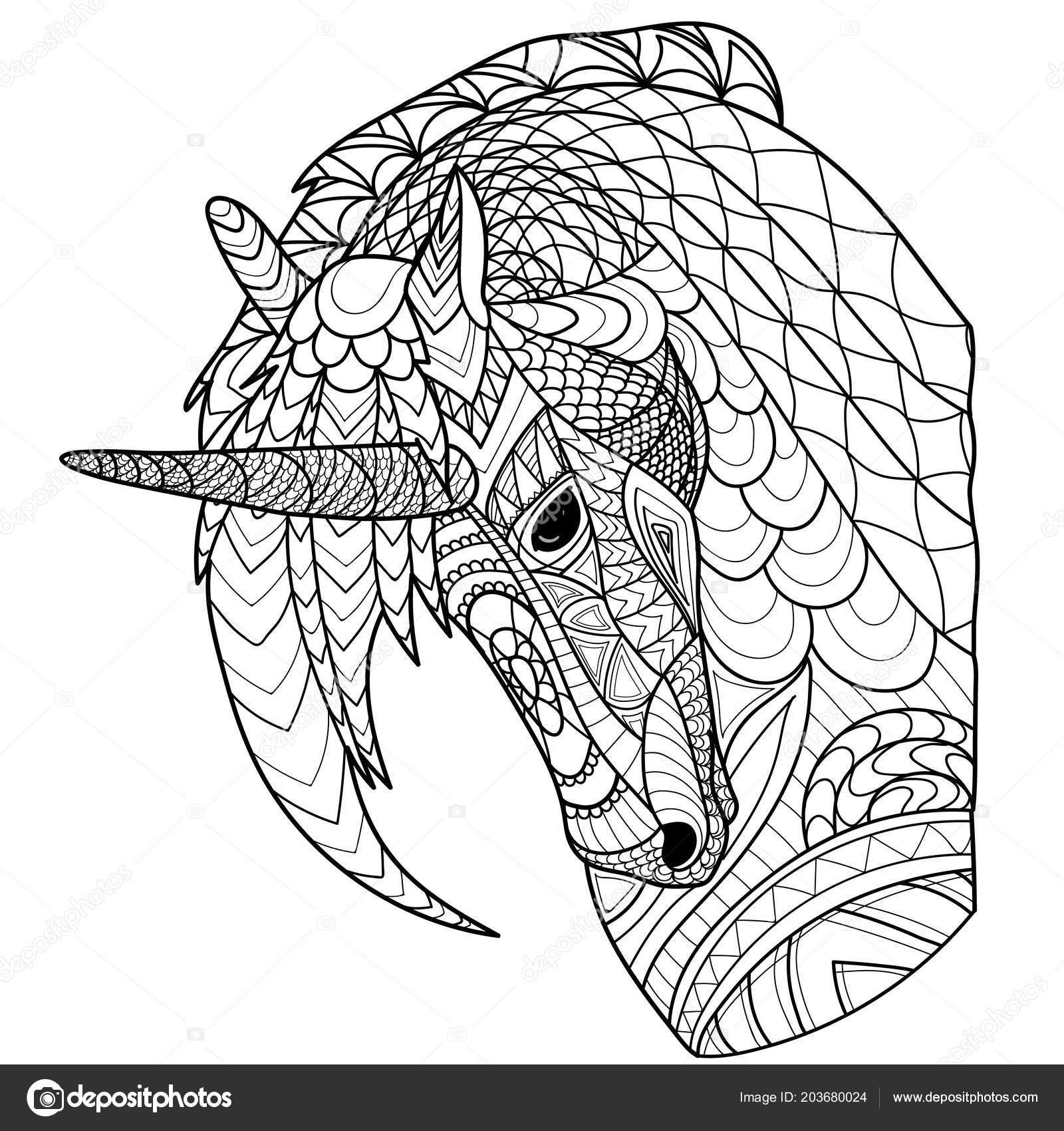 kleurplaat boek kleurplaten pagina met paard eenhoorn