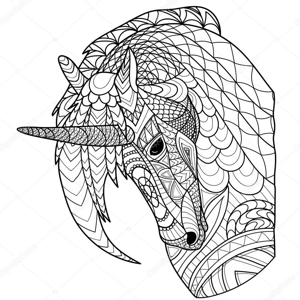 Mandala Kleurplaten Met Dieren Kleurplaat Boek Kleurplaten Pagina Met Paard Eenhoorn