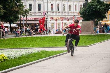 Nizhnii Novgorod/ Russia - 26 07 2018: freeride in the street