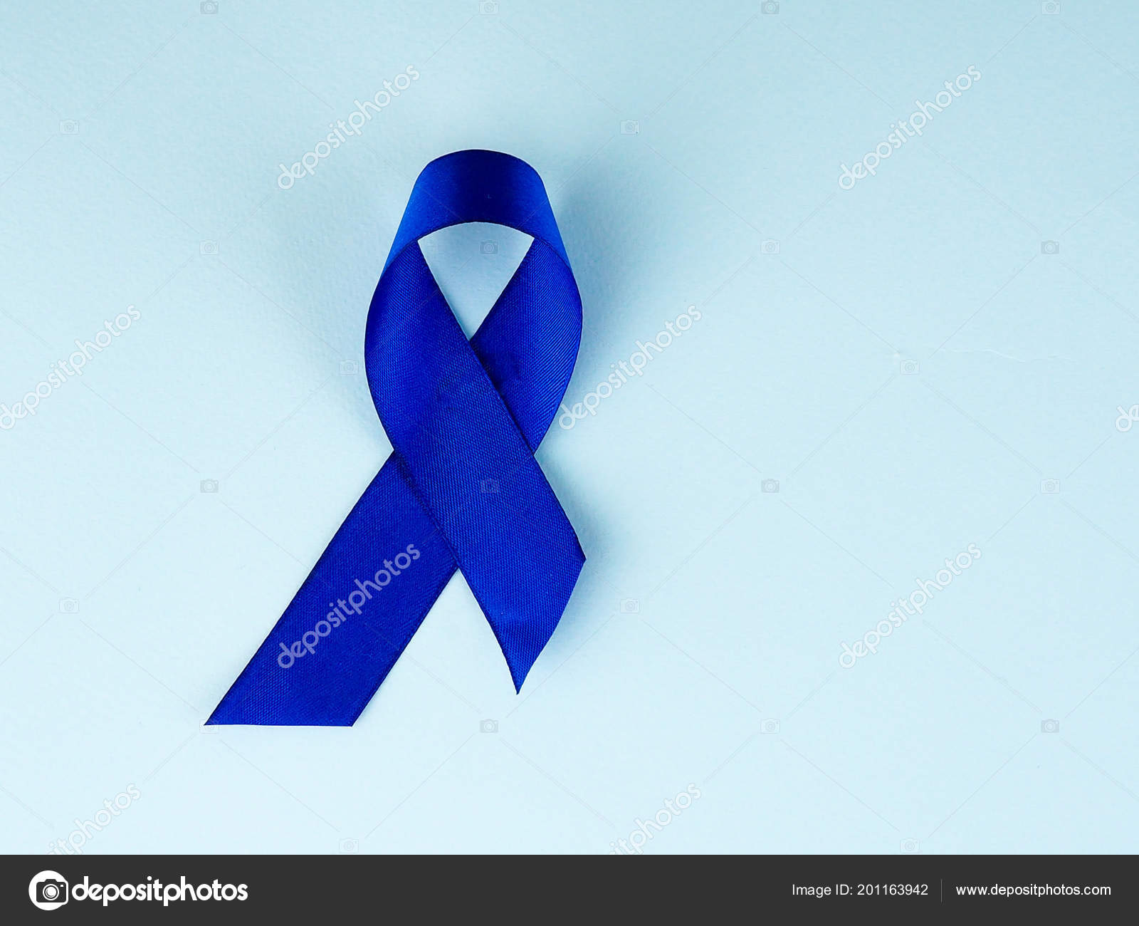 Blue Ribbon Awareness Colon Cancer Colorectal Cancer Child Abuse Awareness Stock Photo C Byallasaa 201163942