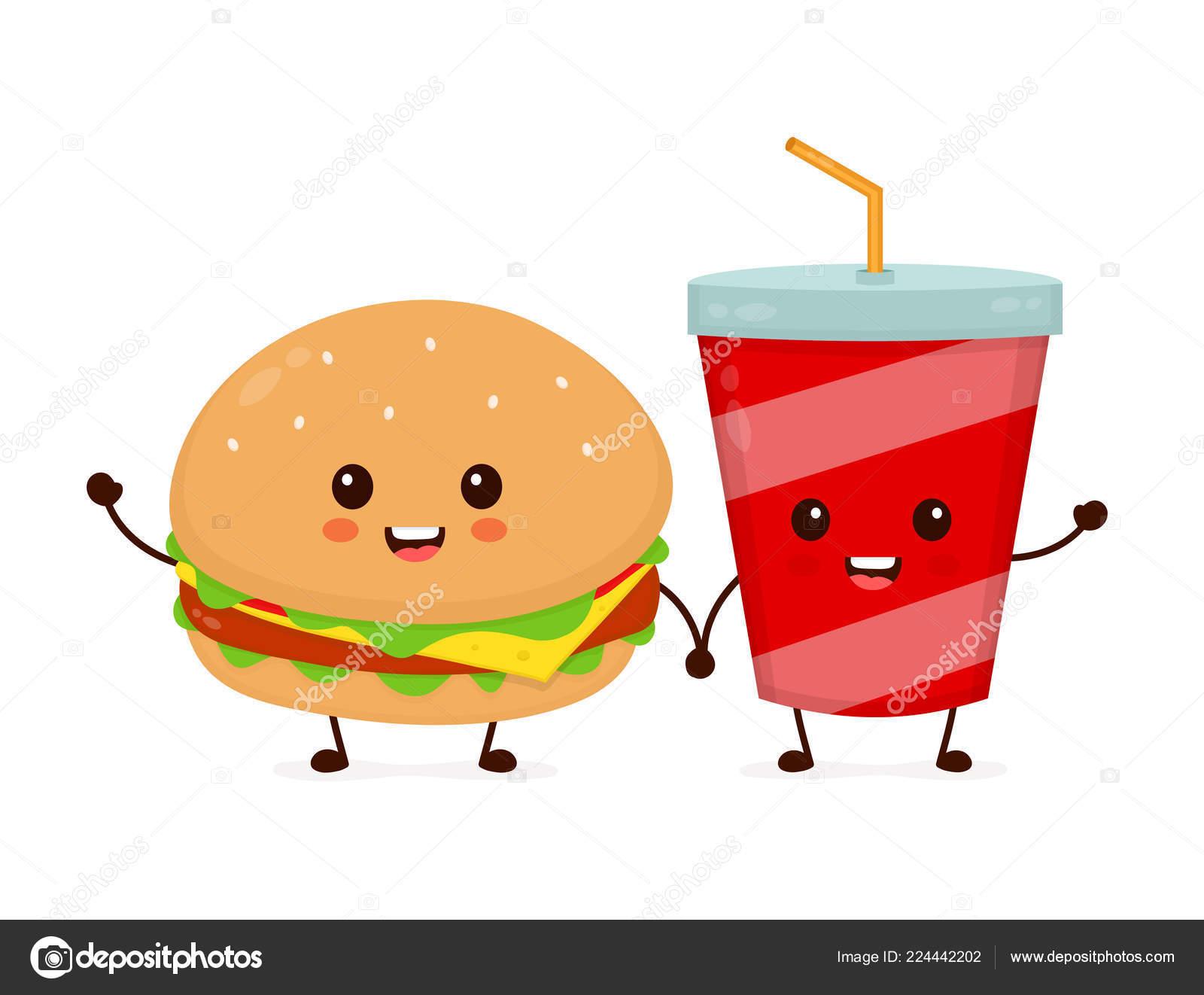 幸せな笑みを浮かべて面白いかわいいバーガー ストックベクター