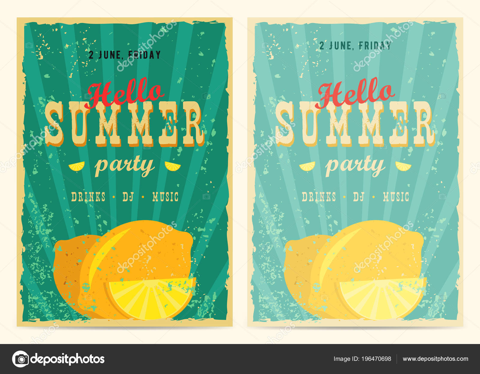 Set Retro Summer Holiday Posters Travel Vacation Vintage Signs Collection Stock Vector