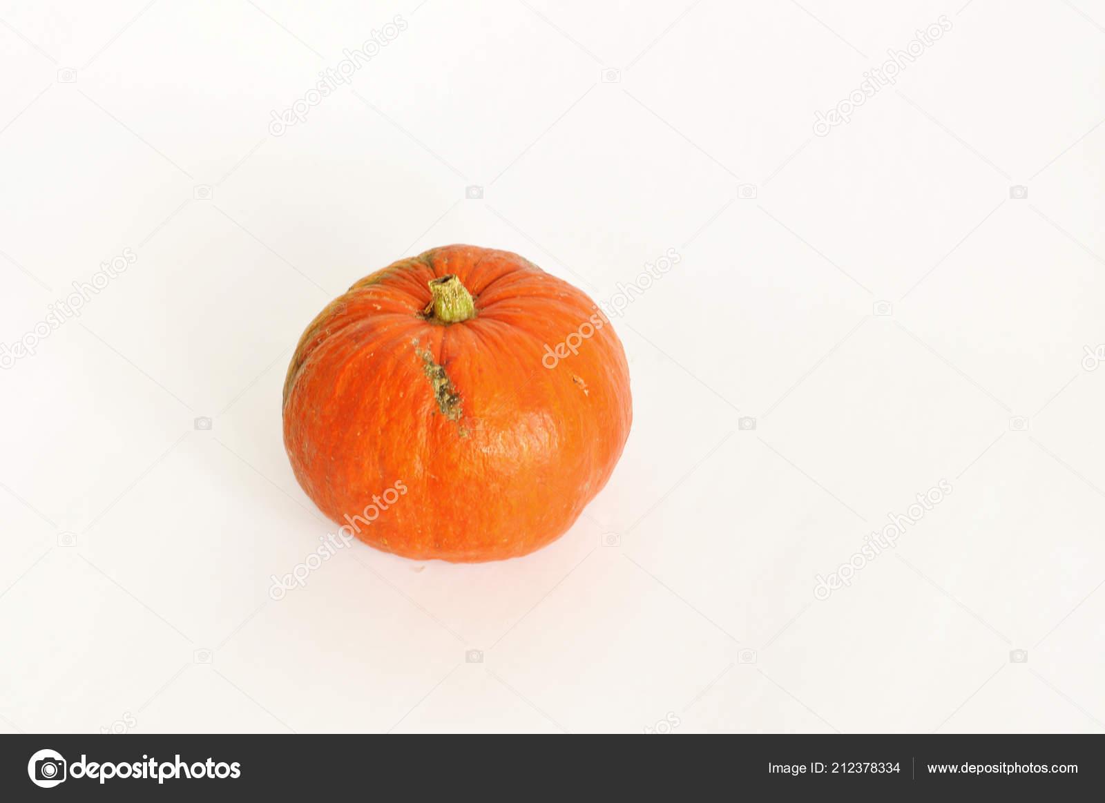 Isolated Photo Pumpkin Orange Pumpkin White Background Use