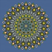 Fotografie Mandala pattern color good mood
