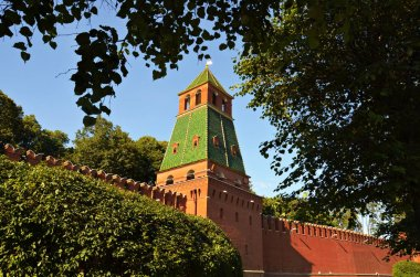 Russia, Moscow, Ancient, Architecture,Tower of Moscow Kremlin. Stock image