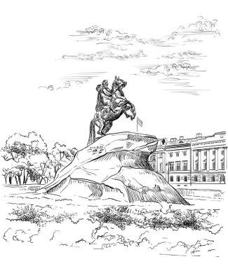 Vector hand drawing ST Petersburg 3