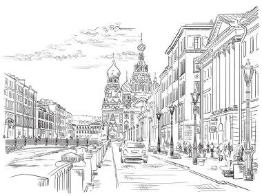 Vector hand drawing ST Petersburg 4