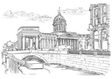 Vector hand drawing ST Petersburg 5