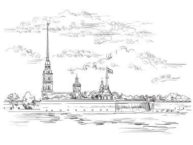 Vector hand drawing ST Petersburg 6
