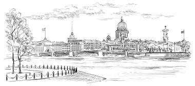 Vector hand drawing ST Petersburg 8