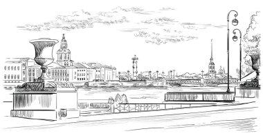 Vector hand drawing ST Petersburg 10