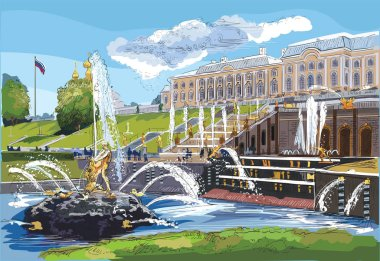 Colorful vector hand drawing ST Petersburg 7