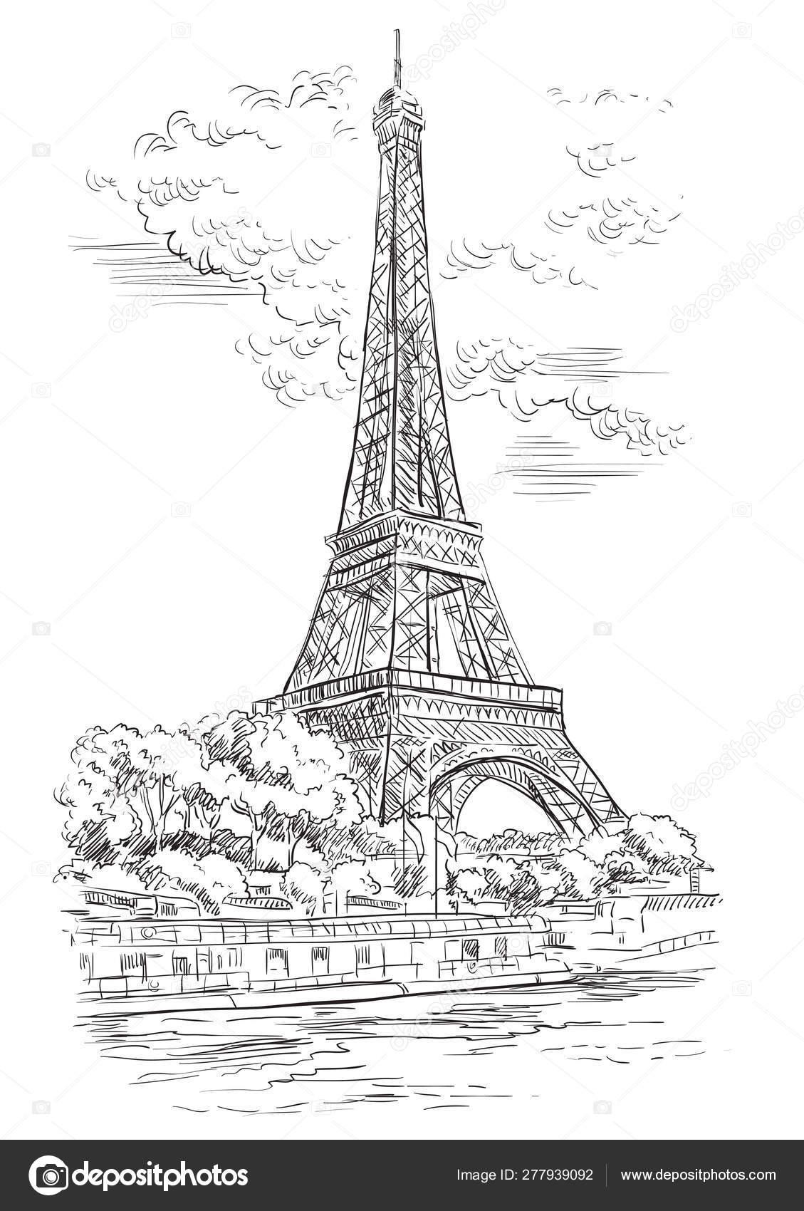 Vector Hand Drawing Paris 1 Stock Vector C Alinart 277939092