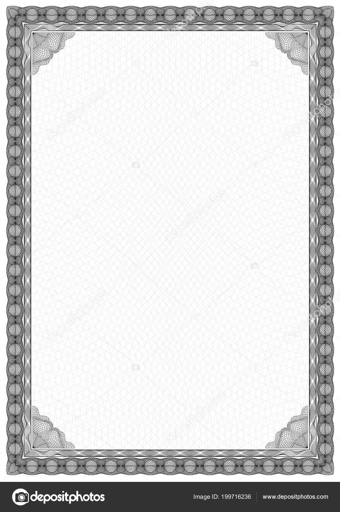 Simple Black White Certificate Frame Border Tangier Design — Stock ...