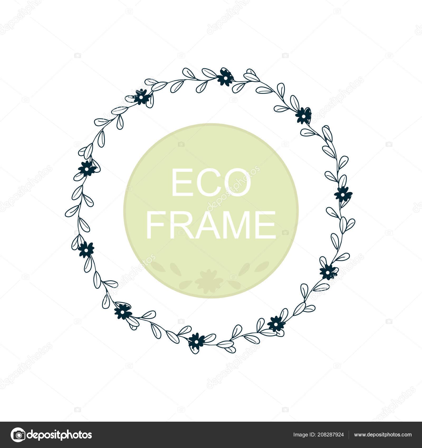 Eco frame wreath greeting card design wedding invitations logos eco frame wreath greeting card design wedding invitations logos business vetores de stock stopboris Images