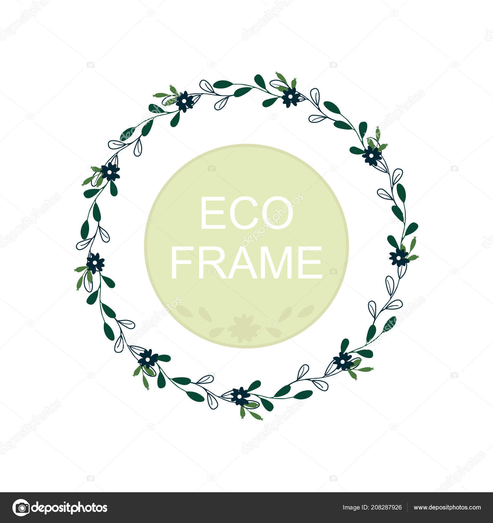 Eco frame wreath greeting card design wedding invitations logos eco frame wreath greeting card design wedding invitations logos business stock vector m4hsunfo
