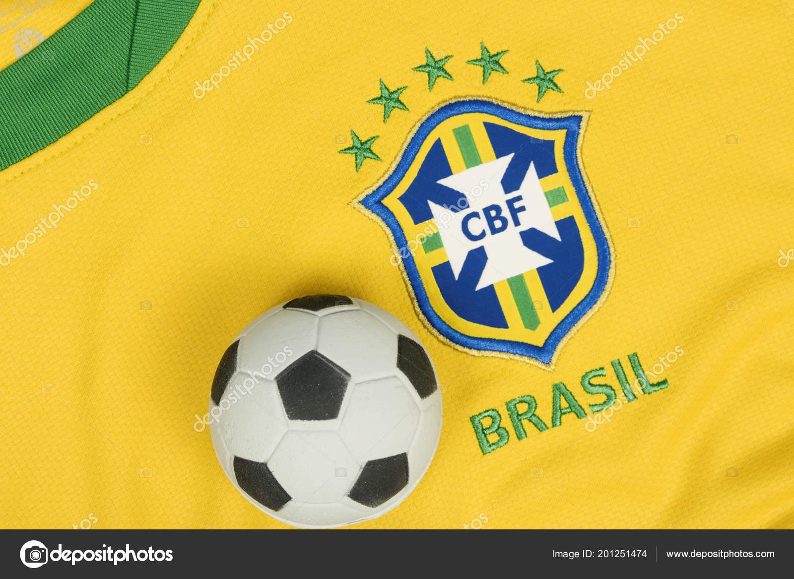 Sao Paulo Brasil Junho 2018 Simbolo Nacional Logotipo Time