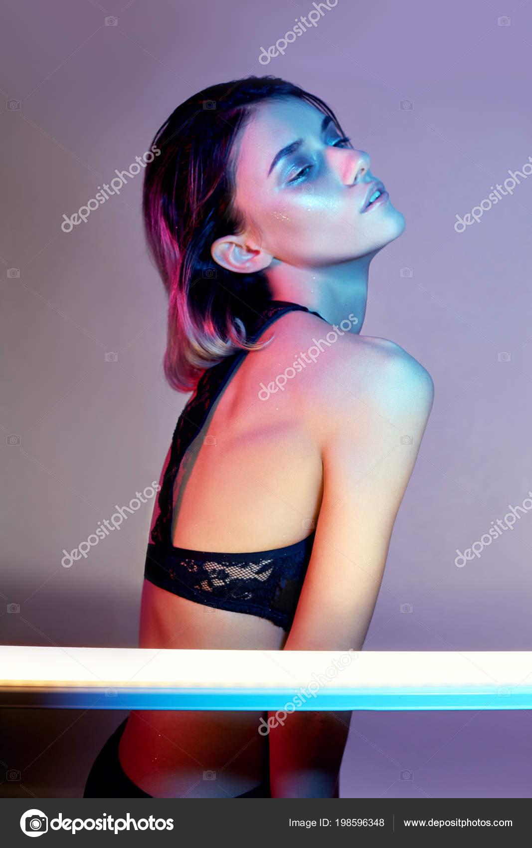Neon sexy lingerie
