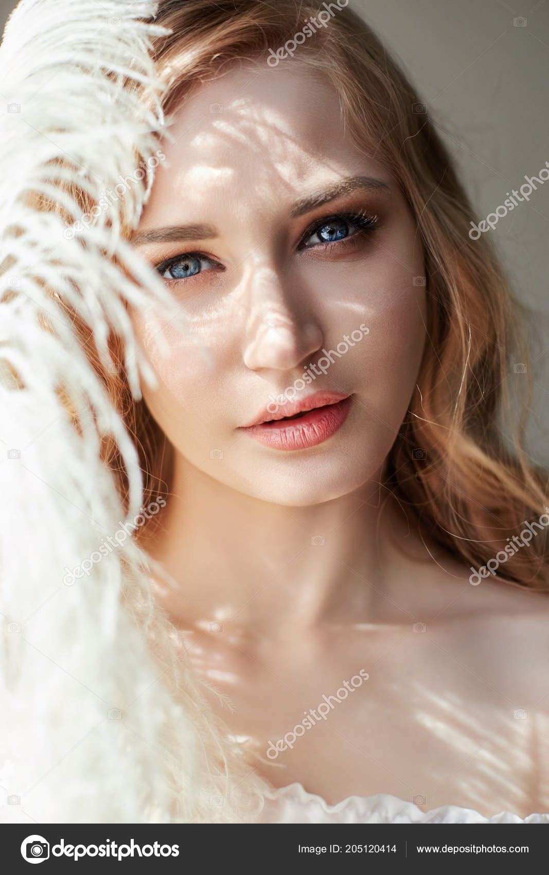 White Blonde Feather Dress