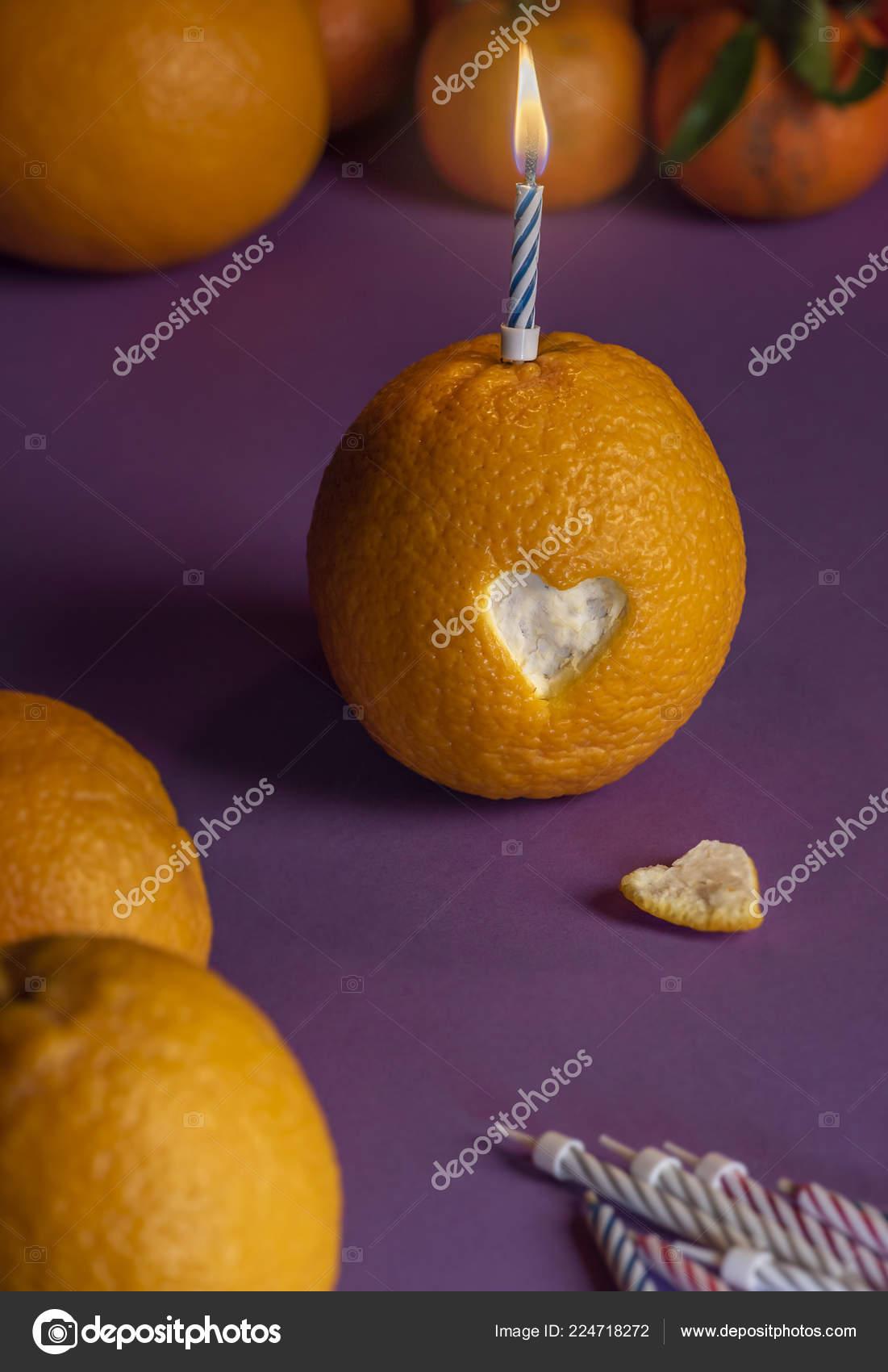 Kerzenfarm Stearin-Teelicht 092004 Orange
