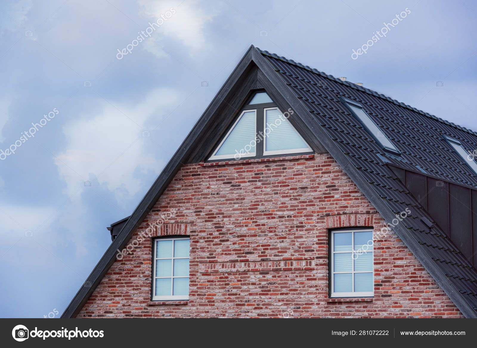 Frisian House Roof And Red Brick Wall Stock Photo C Yesphotographers 281072222