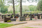 Cemetery in Kouvola, Finland - 6 September 2018