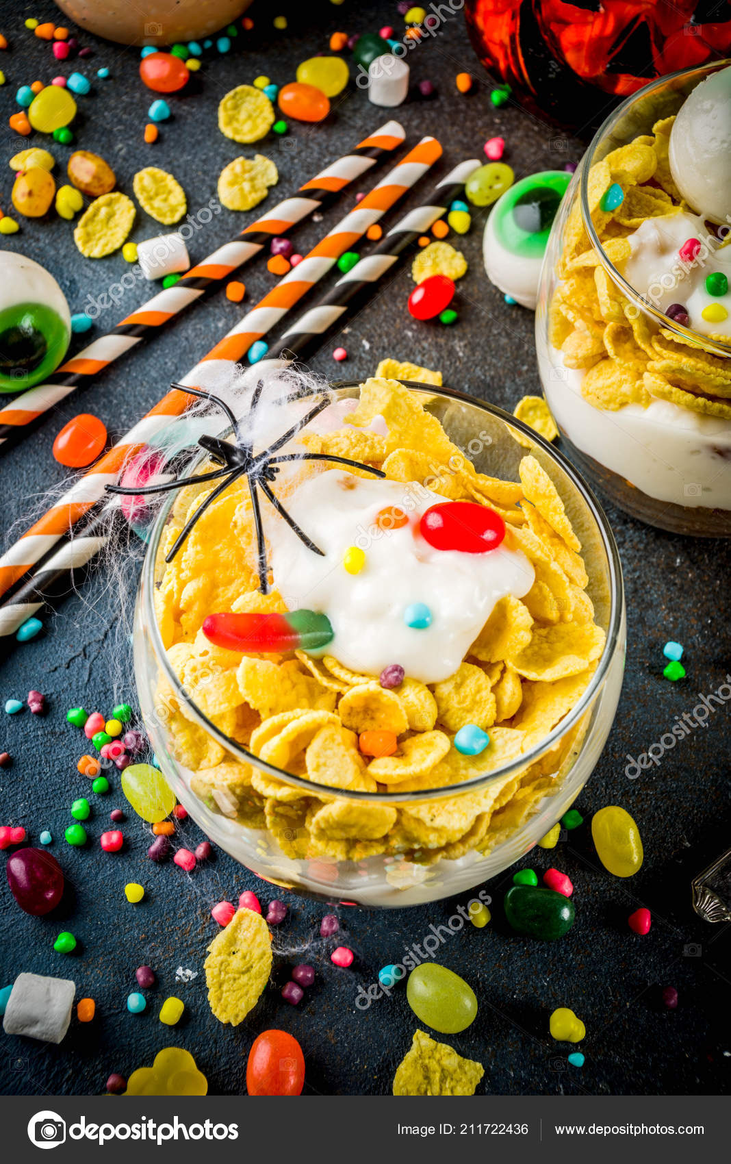 Funny Halloween Food Ideas Trifle Dessert Kids Spooky Halloween Decorations Stock Photo C Unixx 0 Gmail Com 211722436