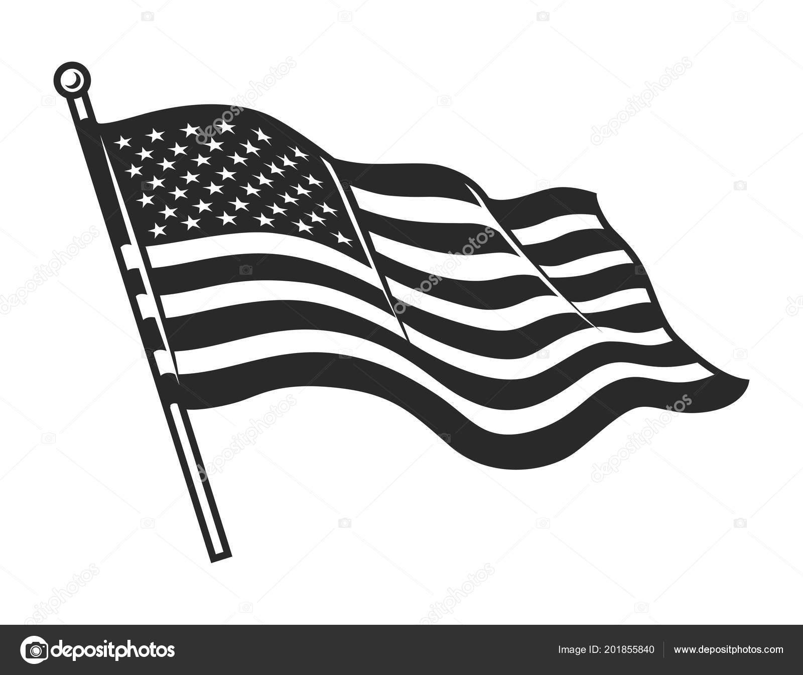 monochrome american flag template stock vector imogi 201855840