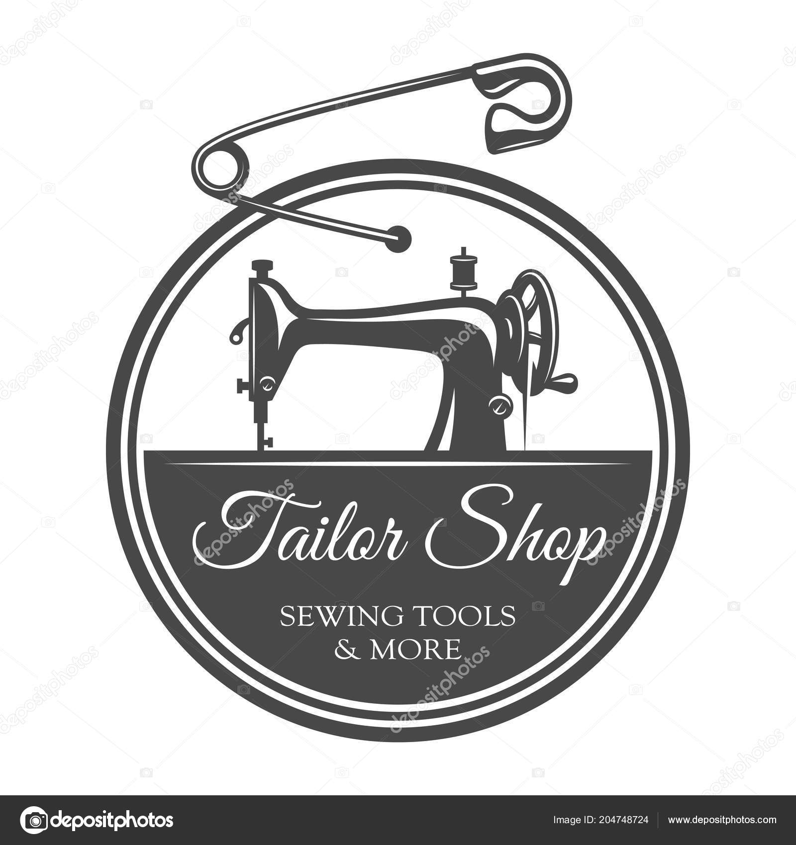 Vintage tailoring round label template — Stock Vector © IMOGI #204748724