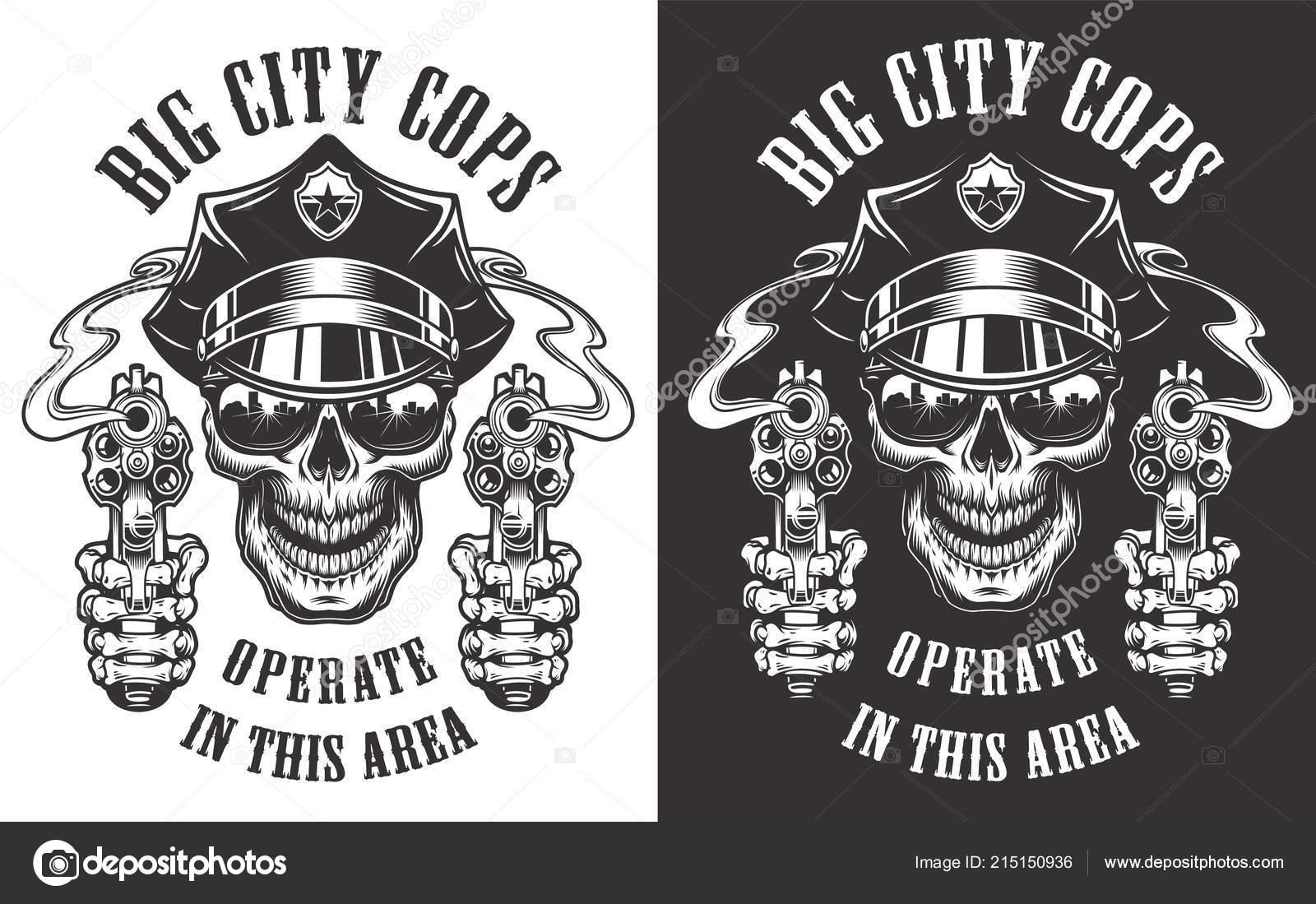 monochrome police emblems vetores de stock imogi 215150936